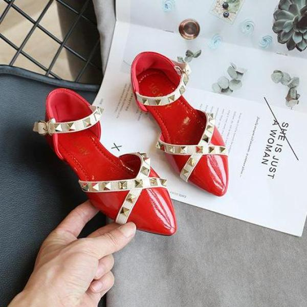Giá bán giày bé gái size 26-35 da bóng siêu chất