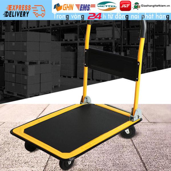 【Trong 24h gửi hàng】xe đẩy hàng 4 bánh gấp gọn tải trọng 150kg Xe Kéo Hàng sàn thép