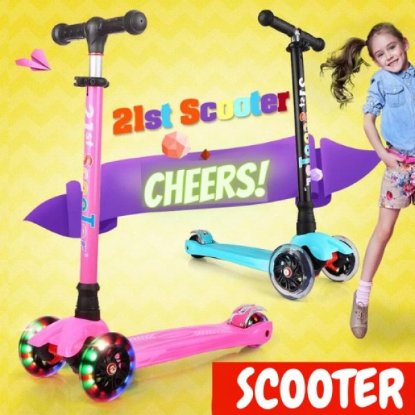 Mua Xe trượt Scooter 3 bánh phát sáng JC741, chất liệu INOX chắc chắn, gấp gọn tiện lợi, an toàn cho bé