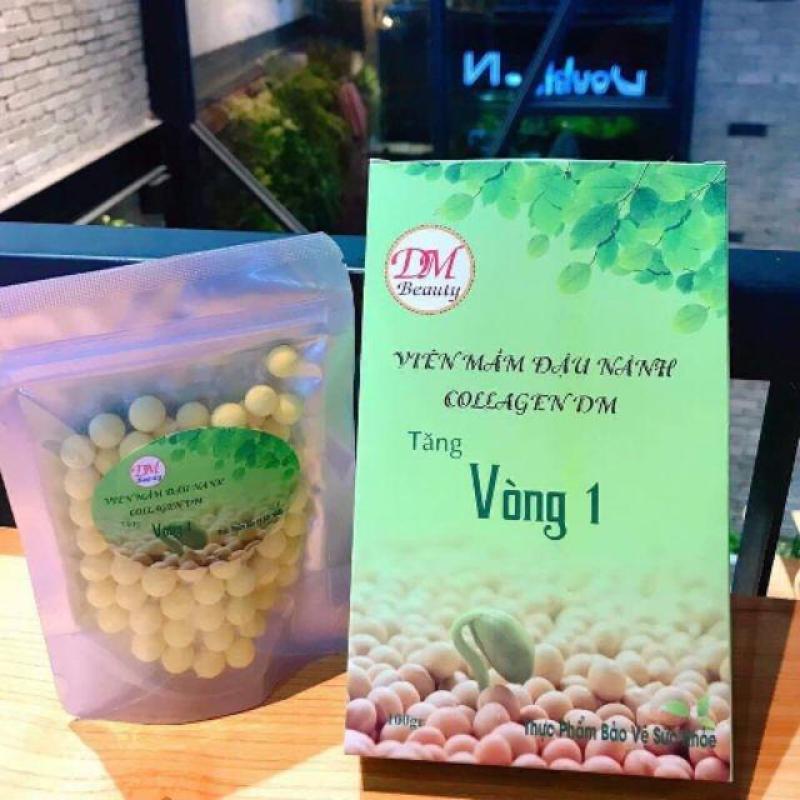 Viên mầm đậu nành collagen dm tăng vòng 1 (Tặng kèm thước dây) cao cấp