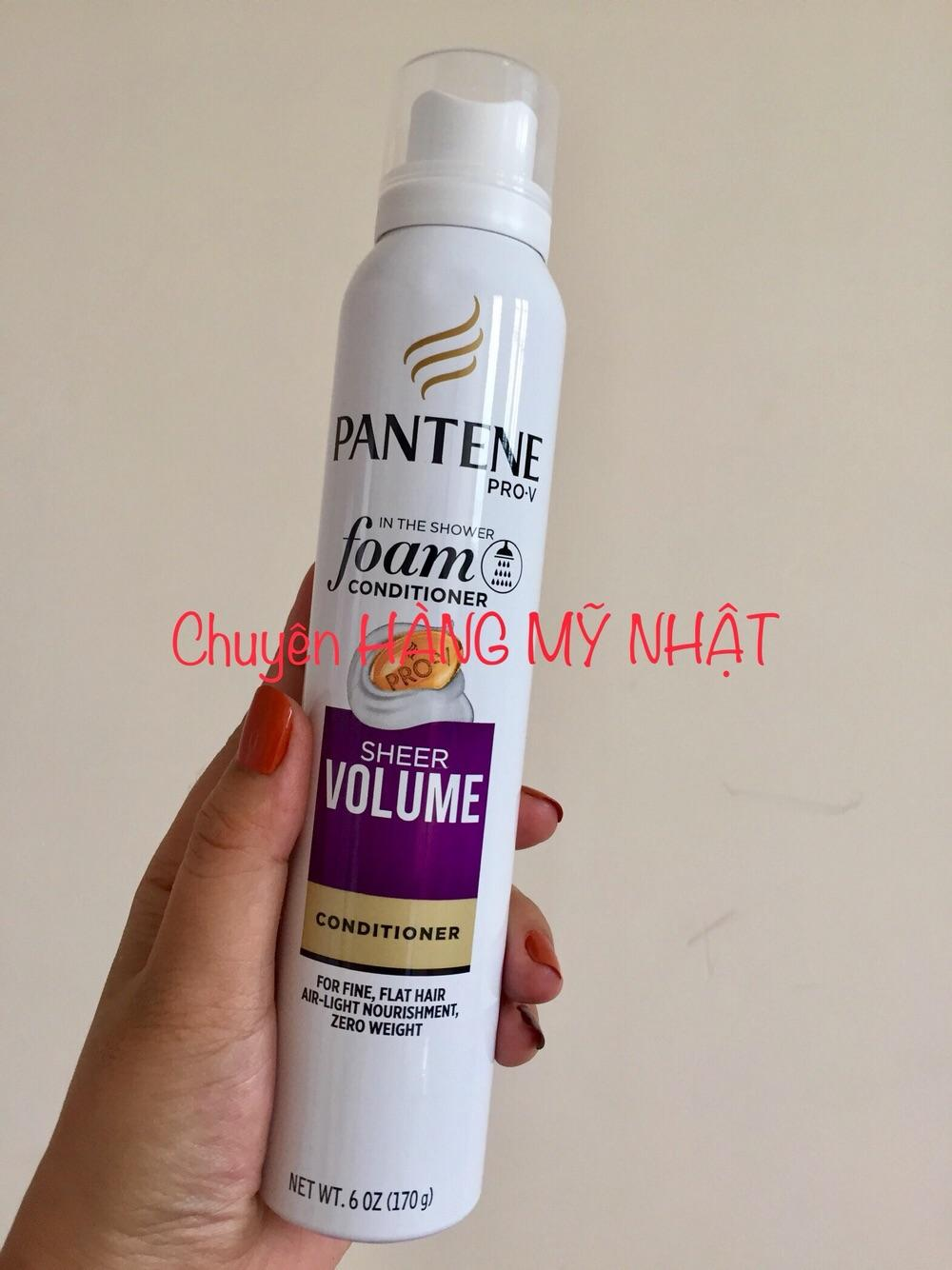 Xịt xả Pantene Pro-V Foam Conditioner Sheer Volume (1 chai 170g)