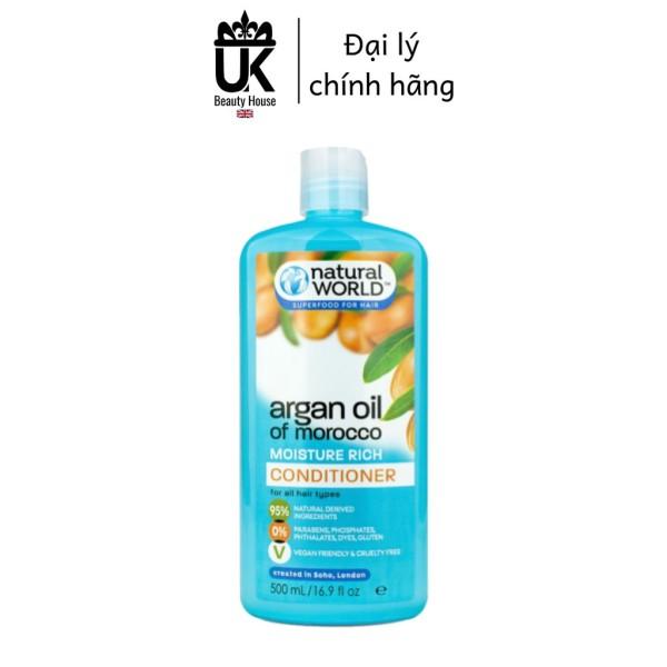 Dầu Xả Nuôi Dưỡng, Phục Hồi Tóc Argan Oil Of Morocco Natural World 500Ml