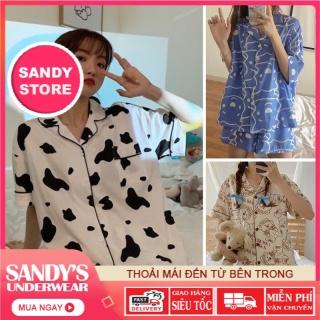 Bộ Ngủ Pijama Hoạ Tiết Vải Kate Thái, Bộ Mặc Nhà Dễ Thương SANDYSTORE thumbnail