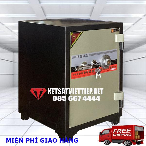 Két sắt Việt Tiệp đúc đặc KC54 khóa cơ-C68*R46*S52cm-100kg- Công ty két sắt Việt Tiệp uy tín