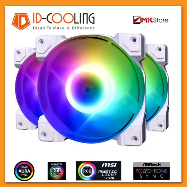 Pack 3 Quạt tản nhiệt Case Fan ID-Cooling SNOW DF-12025 ARGB TRIO 12cm + Control remote