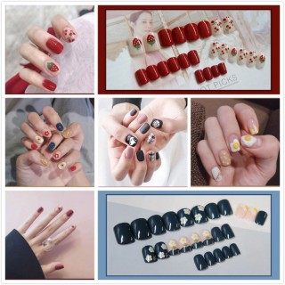(TẶNG KEO DÁN) Bộ 24 móng tay giả 3D siêu xinh chống thấm nước R01-R020 thumbnail