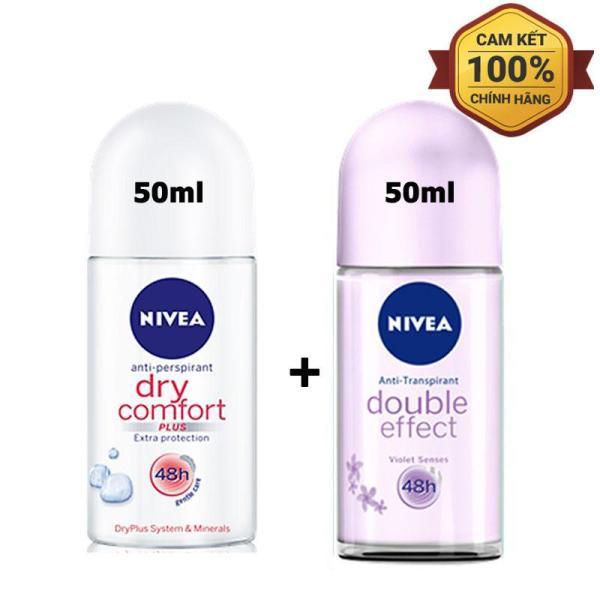 Combo 2 Chai Lăn Khử Mùi Nivea Loại 50ml - Mỹ
