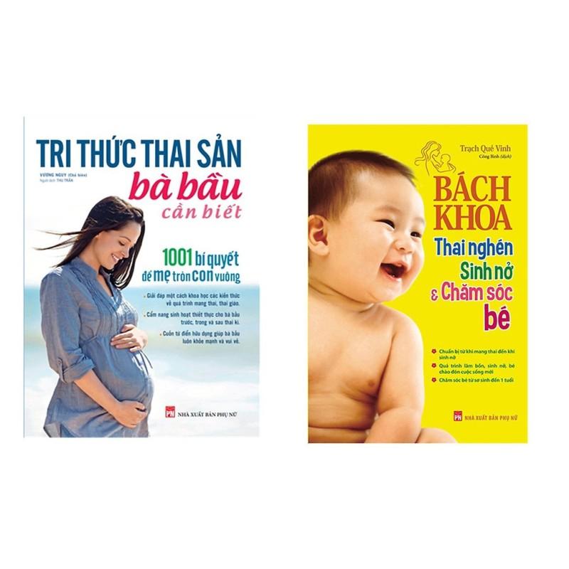Combo sách Bách Khoa Thai Nghén, Sinh Nở Và Chăm Sóc Bé và Tri Thức Thai Sản Bà Bầu Cần Biết Mhbooks