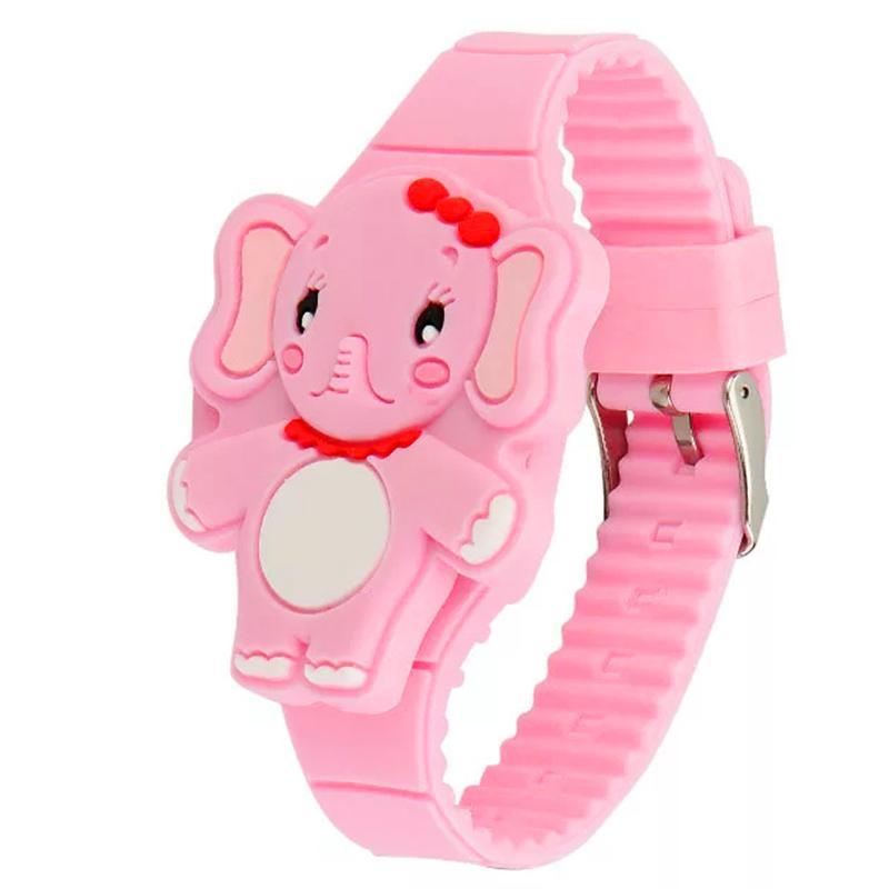 Nơi bán Đồng hồ đèn LED cho bé gái hình chú voi cute dây silicon xinh xắn – DH007