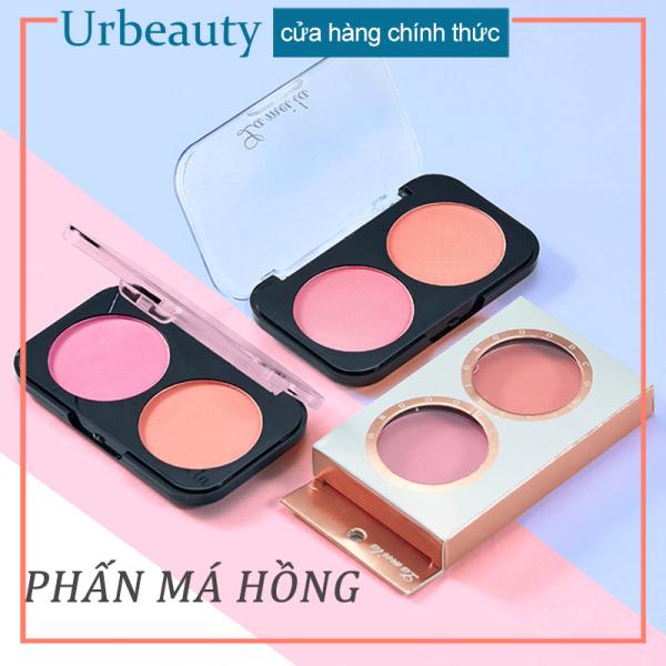 【Urbeauty Mall】Phấn má hồng siêu mịn Lameila hộp 2 ô màu hot trend phấn má