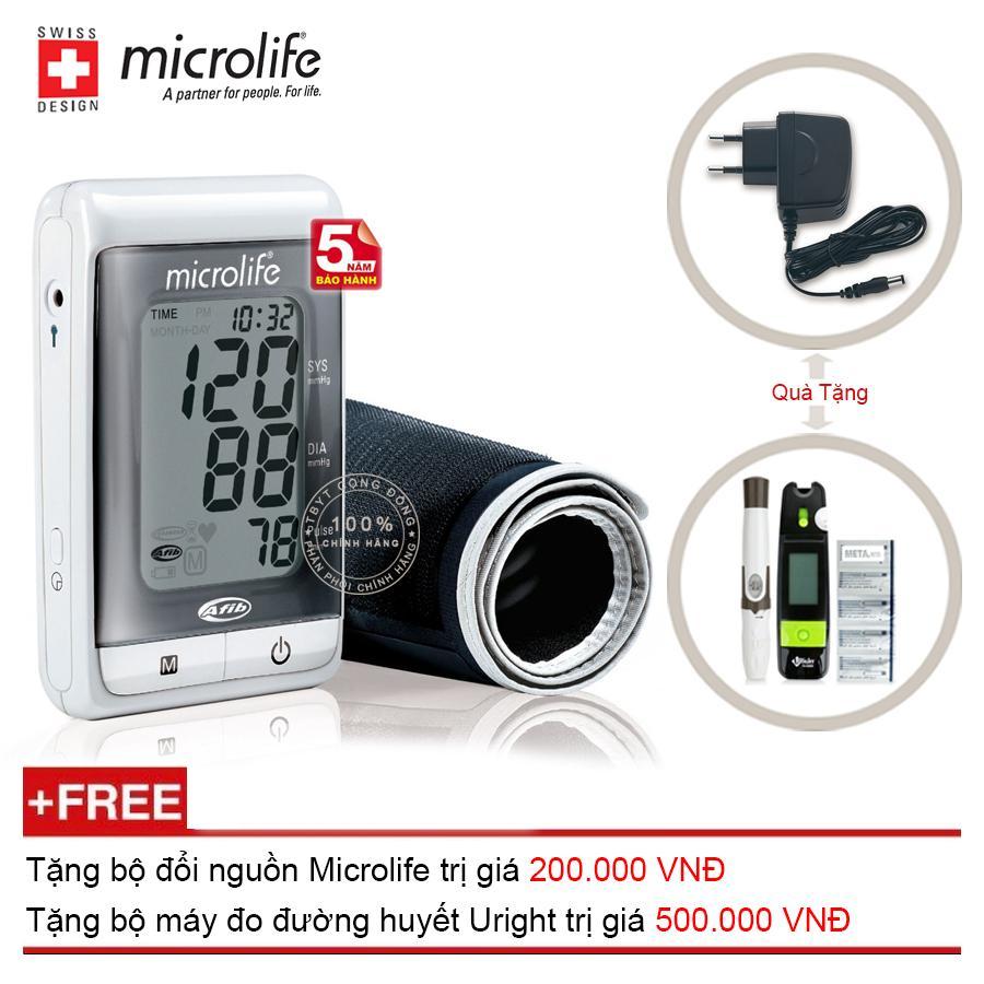 Nơi bán Máy Đo Huyết Áp Bắp Tay Microlife A200 ( Kèm Bộ Đổi Nguồn Microlife ) + Tặng Máy Đo Đường Huyết Uright TD 4265