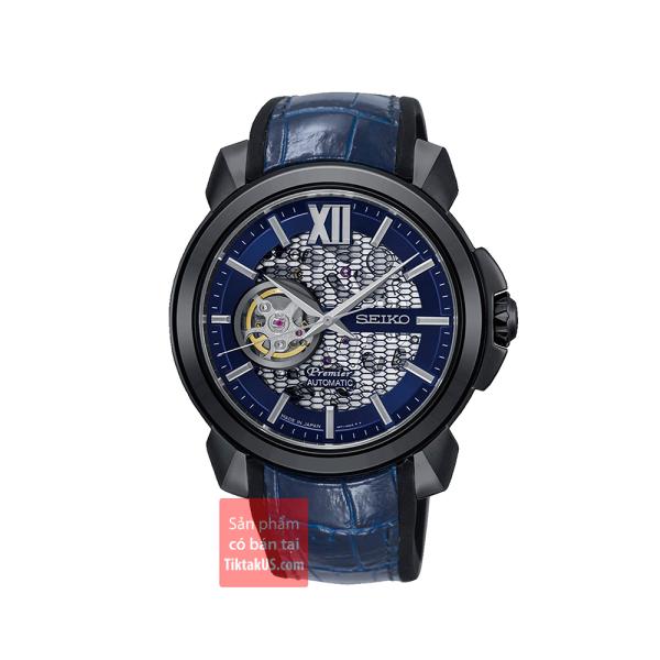 Đồng hồ nam cao cấp Seiko Limited Edition SSA375J1 Premier Automatic Novak Djokovic 43mm chống nước 100m phiên bản giới hạn kính sapphire 100m