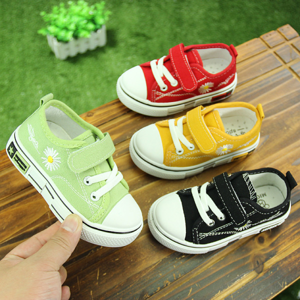 Giày bata cho bé trai bé gái siêu êm chân, giày Hàn Quốc cho bé in hoa cúc