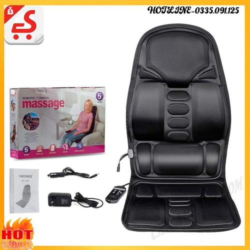 Ghế Nệm Massage Toàn Thân 12V Kèm 220V - 8 Chế Độ Massage Khác Nhau Chọn Vùng Massage Tùy Thích