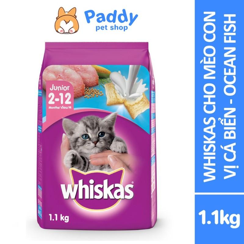 [1.1kg] Whiskas Thức Ăn Hạt Cho Mèo Con Vị Cá Biển - Ocean Fish