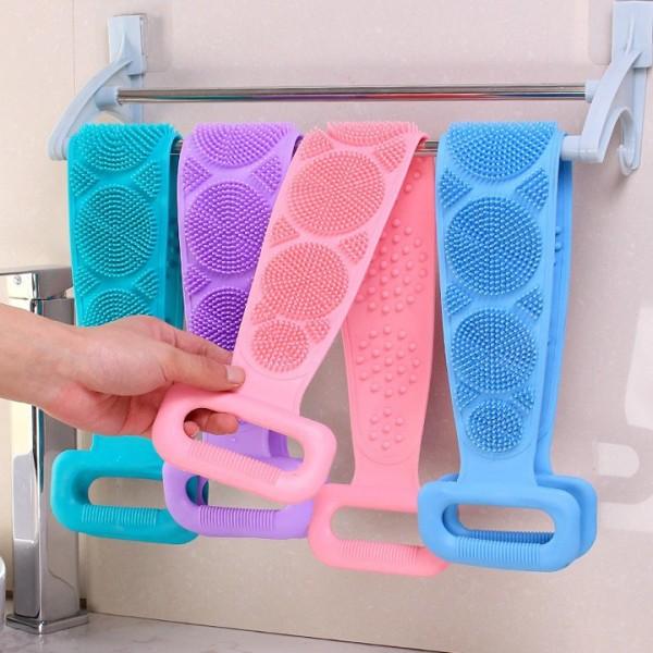 Dây chà lưng khi tắm 2 mặt gai bằng silicone, đồ dùng phòng tắm, dụng cụ vệ sinh cơ thể, đồ dùng gia đình, Huy Linh