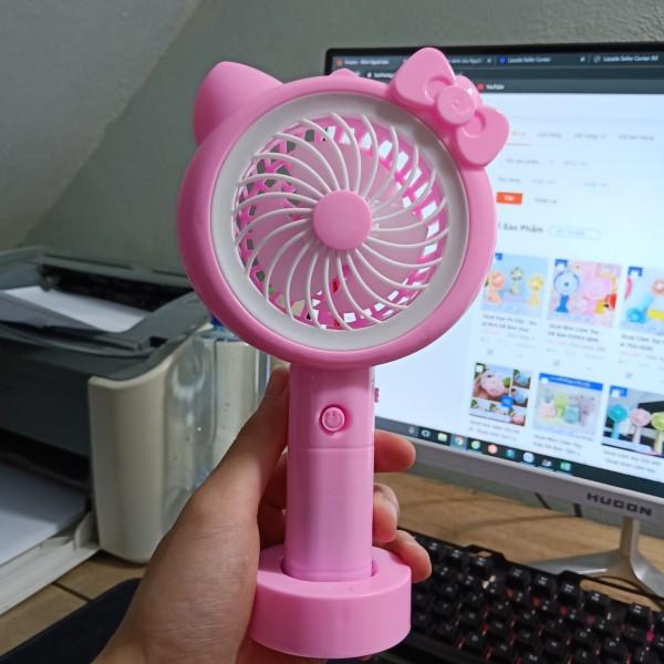 Quạt mini cầm tay - Quạt mini để bàn Kipas hình Doremon Hello Kitty Minion