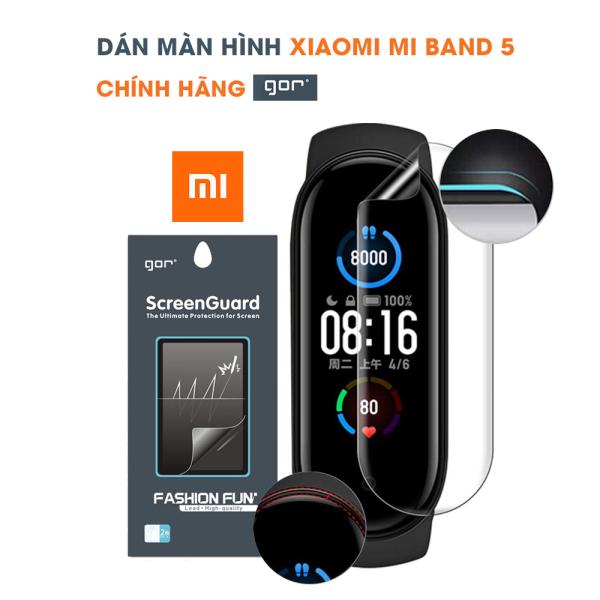 Dán màn hình Mi Band 5 full màn hình trong suốt chính hãng Gor – Dán dẻo Mi Band 5