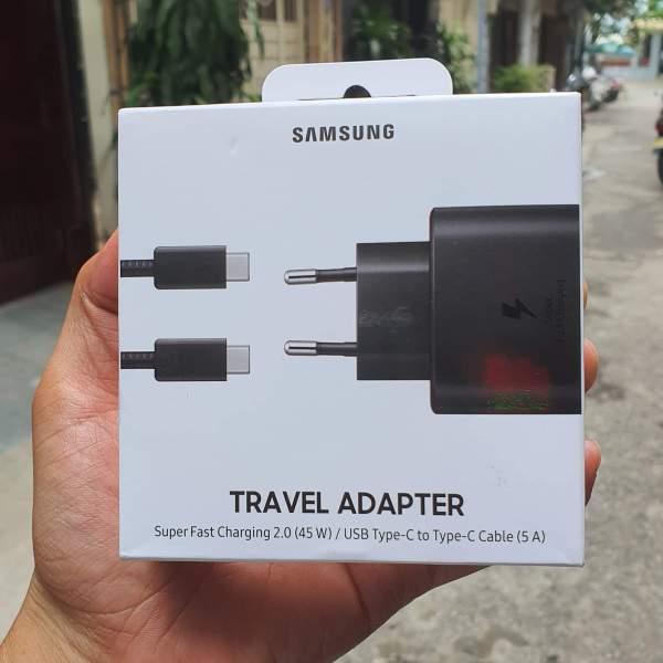 Bộ Sạc siêu nhanh 45W Super Fast Charging full box Samsung Galaxy Note 10/Note 10 Plus/S10/S10 Plus/S20/máy tính bảng Galaxy Tab