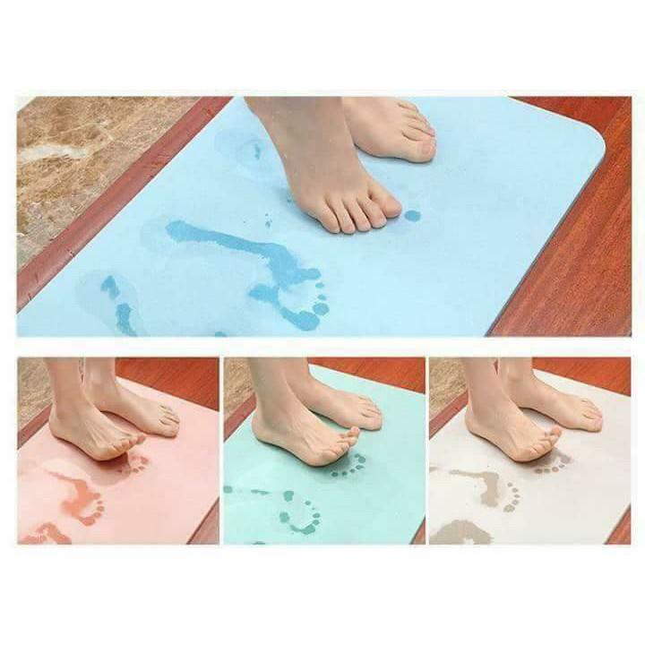 Thảm đá chùi chân siêu thấm xuất nhật loại to 60cm-40cm