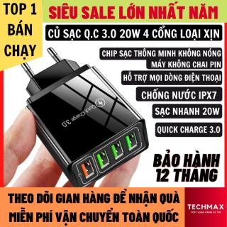 Củ Sạc Nhanh Quick Charge 3.0 20W Hỗ Trợ Mọi Dòng Điện Thoại Chip Sạc Thông Minh Không Hại Máy Chống Nước IPX7, Củ Sạc Iphone, Củ Sạc Nhanh Củ Sạc Điện Thoại thumbnail