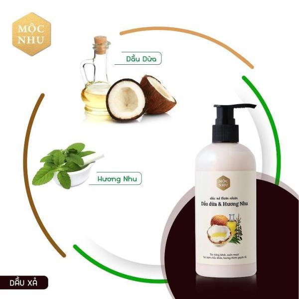 ✅MỘC NHU✅ Dầu xả dầu dừa & hương nhu - Giúp tóc bồng bềnh và suôn mượt giá rẻ
