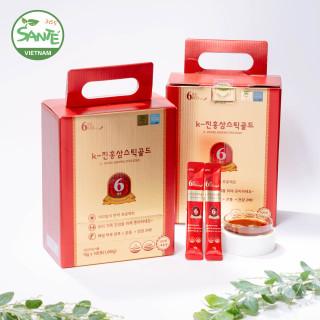 [HCM]Nước Hồng Sâm Cô Đặc K-Jin Stick Gold 10g x 100 stick hộp (K-Jin Red Ginseng Stick Gold) - Sante365 - Thực phẩm bảo vệ sức khỏe thumbnail