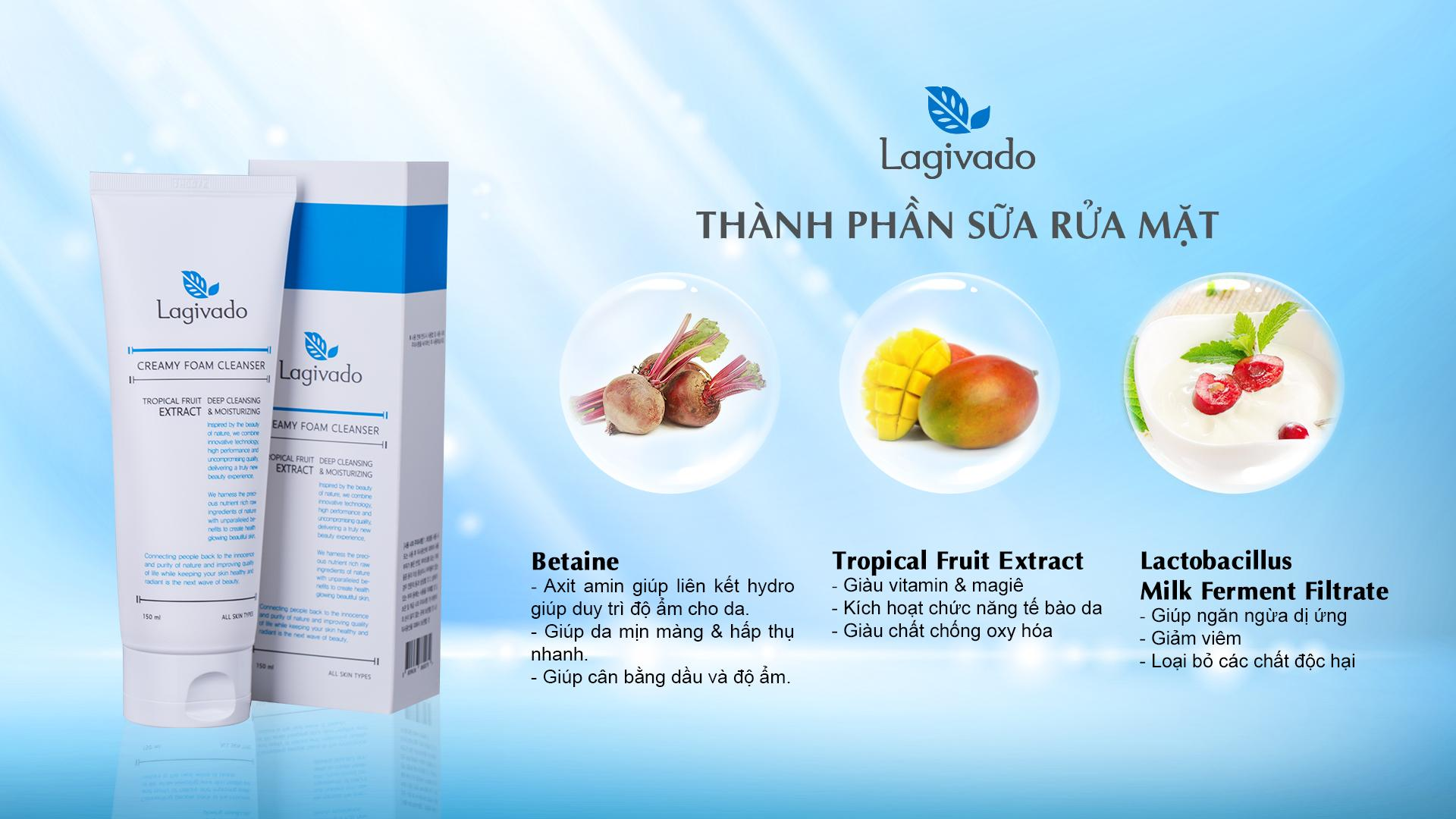Sữa rửa mặt - Lagivado Creamy Foam Cleanser - 150ml