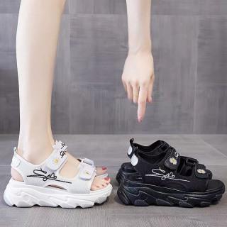 (Video 2 màu) Sandal nữ,sandal hoa cúc 2 quai chữ kí kiểu dáng trẻ trung 1