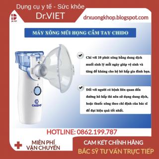 Máy Xông Mũi Họng Điện Dung Chido 2020 cao cấp từ Nhật Bản-Giúp vệ sinh mũi họng hàng ngày thumbnail