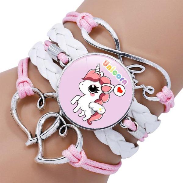 Giá bán Vòng tay Unicorn cho bé bằng da bện phối nhiều dây cá tính BBShine – J039