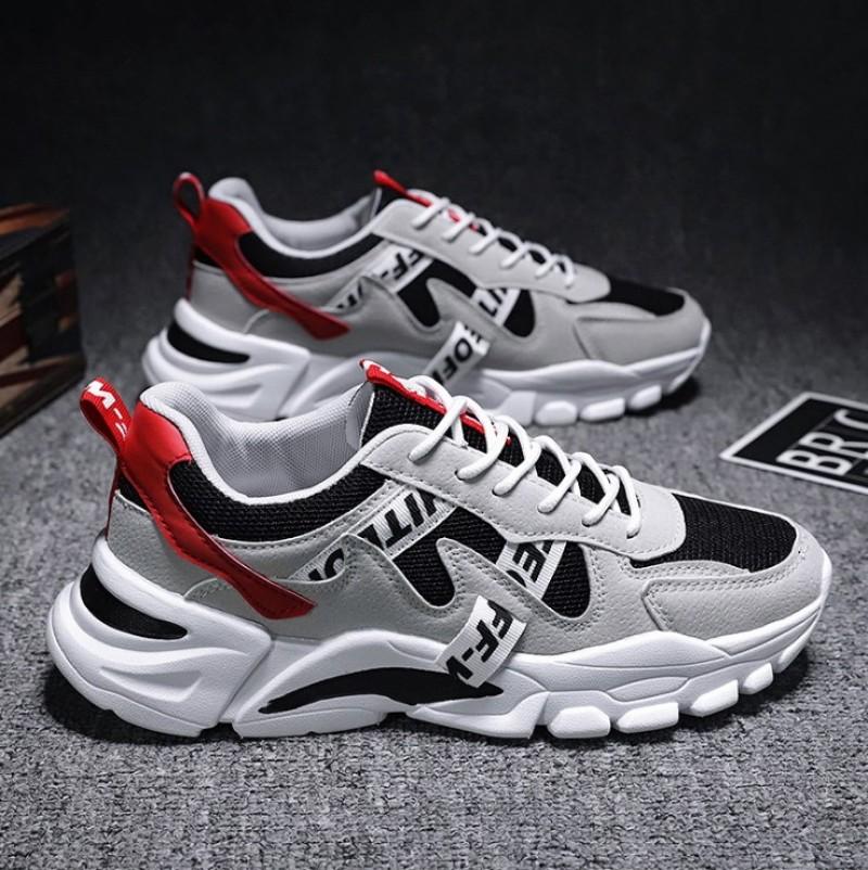 Giày nam thể thao, giày Sneaker nam Hàn Quốc cao cấp phối chữ SP - 330 giá rẻ