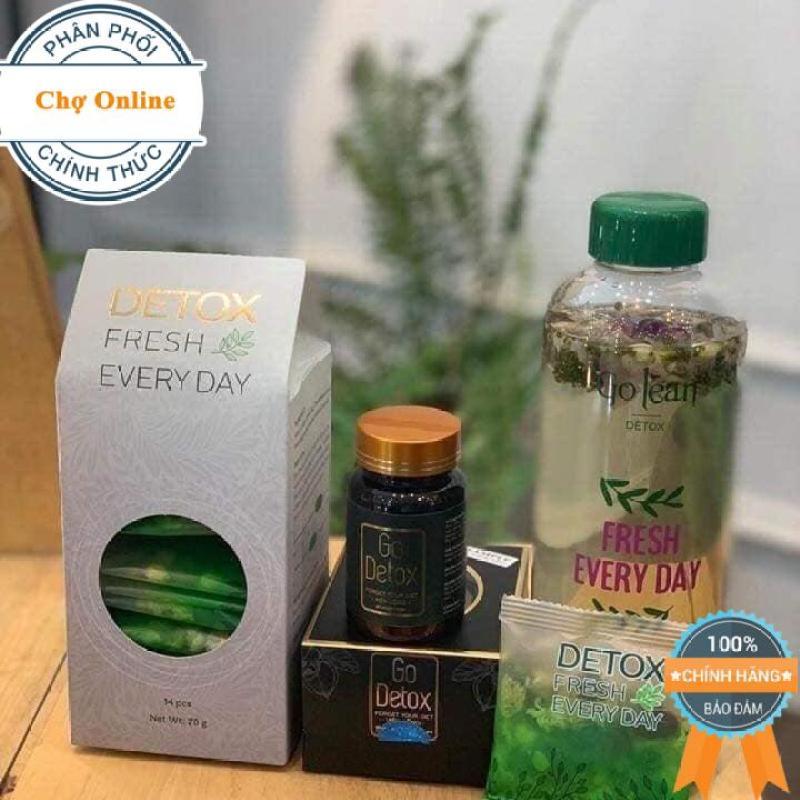 [9 hãng] Combo Viên uống Giảm cân Go Detox + Tặng kèm Detox hoa quả thải độc cao cấp