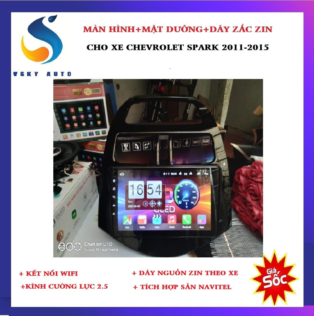 [HỖ TRỢ LẮP ĐẶT Ở HÀ NỘI] Màn hình DVD android 10.0 bộ màn hình kết nối wifi cho xe CHEVROLET SPARK 2011,2012,2013,2014,2015, ra lệnh giọng nói, tích hợp các camera lùi, camera hành trình, GIÁ CỰC SỐC, SIÊU BỀN, SIÊU TIẾC KIỆM