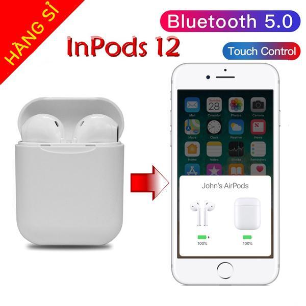 [HÀNG XỊN] Tai Nghe Bluetooth 5.0 i12 TWS [CẢM ỨNG VÂN TAY] (Màu trắng)