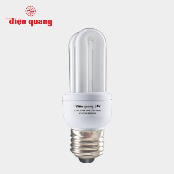 ĐÈN HUỲNH QUANG COMPACT CSN Điện Quang ĐQ-CFL-3U-T4-14W-DL-E27, tube lamp, đèn phòng ngủ hành lang bếp tiết kiệm năng lượng, đèn công suất nhỏ mini siêu sáng, hàng tốt chính hãng uy tín chất lượng rẻ đẹp 3U 14 Watt