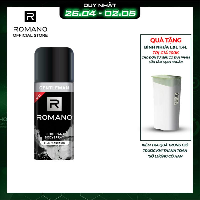 Xịt khử mùi toàn thân Romano Gentleman 150ml giá rẻ