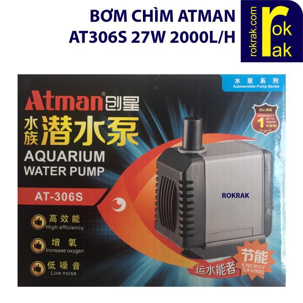 Máy bơm Atman AT306s AT 306 27W 2000L/H cho hồ cá