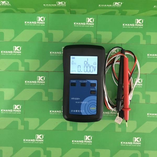 [HCM]Máy đo nội trở YR1030 Plus và que đo giao diện tiếng anh đo pin và bình ắc quy