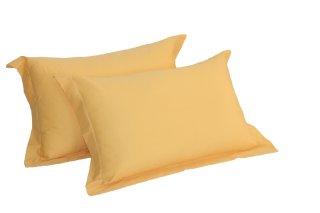 Vỏ gối 100% Cotton solid by GRAND, Màu vàng đậm thumbnail
