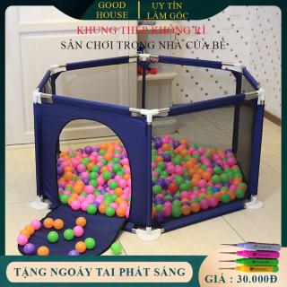 Lều bóng- Cũi bóng- Nhà bóng khung thép không rỉ (Tặng kèm bóng) thích hợp cho bé từ 6 tháng tuổi. Giúp Bé chơi đuà thoải mái thumbnail