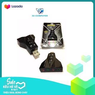 ( Số lượng 2 cái ) Mua 1 Tặng 1 USB SOUND ÂM THANH 3D HÌNH TÀU BAY - Bảo hành 3 tháng 1 đổi 1 usb sound 4 lỗ thumbnail