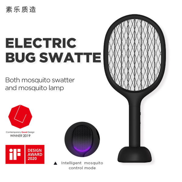 SOLOVE P1 2 in 1 Electric Mosquito Swatter Portable Camping Travel Anti-electric USB Charging Wall-mounted Mosquito Dispeller For Home Effectively Kills Mosquitoes And Bugs