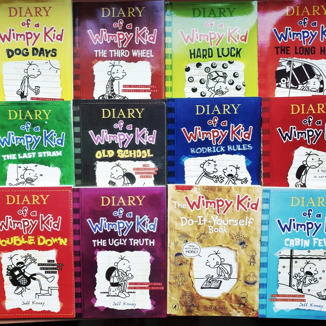 Sách DIARY OF A WIMPY KID - Nhật Kí Chú Bé Nhút Nhát Full 12 Cuốn - Sách Nhập Khẩu, Chống Loá Giá Siêu Rẻ