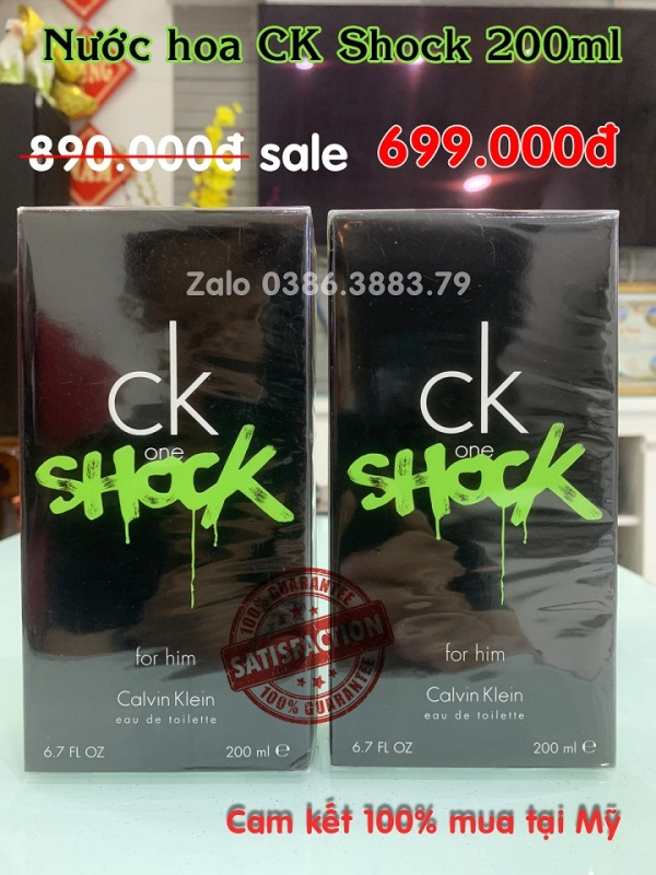 Nước hoa CK SHOCK for him - CK ONE Unisex EDT (100ml - 200ml) nguyên seal từ US.
