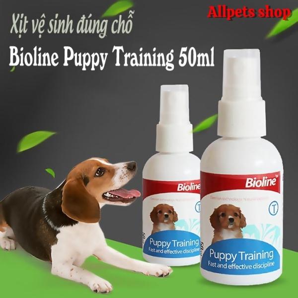 Dung dịch xịt hướng dẫn chó mèo đi vệ sinh đúng chỗ Bioline Puppy Training - 50ml