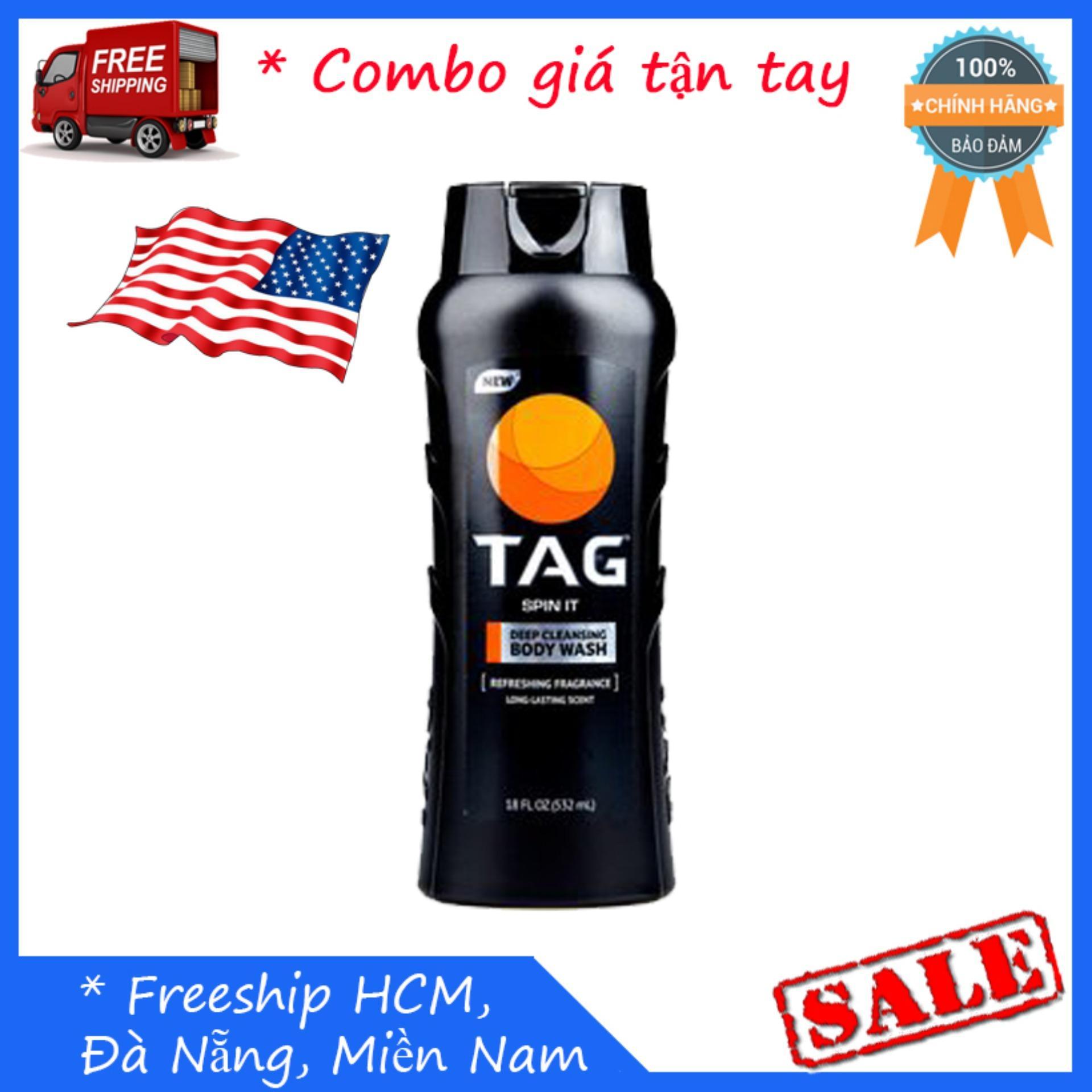 Sữa tắm Nam TAG Body Wash, Spin It  532ml cao cấp