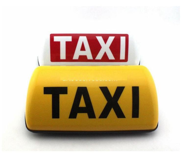 Mào taxi ĐẾ NAM CHÂM CÓ ĐÈN LED điện 12v loại 1 khổ lớn