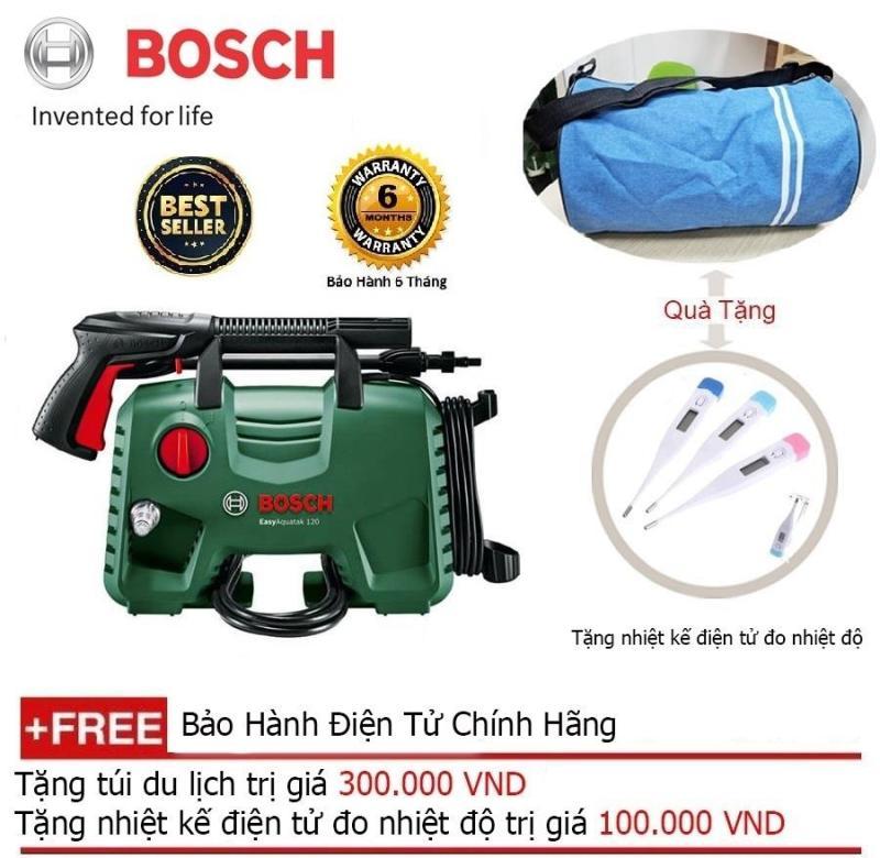 Máy xịt rửa cao áp Bosch AQT 120 + Quà tặng balo du lịch