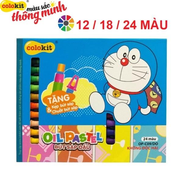 Hộp bút sáp dầu Doraemon Colokit - Thiên Long, sản phẩm chất lượng cao và được kiểm tra chất lượng trước khi giao hàng